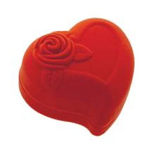 Ювелирная упаковка Для кольца сердце бархат 9988