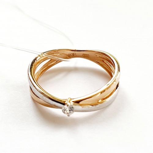 Золото кольцо фианит r01-z-59308-z Россия МЮЗ 17(р)