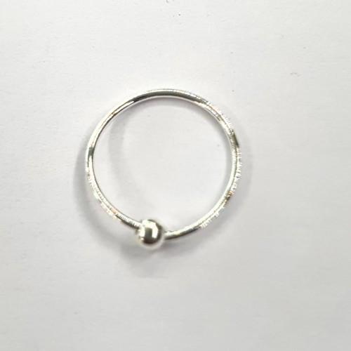 Серебро пирсинг В нос диаметр 10мм. без вставок без покрытия 92503
