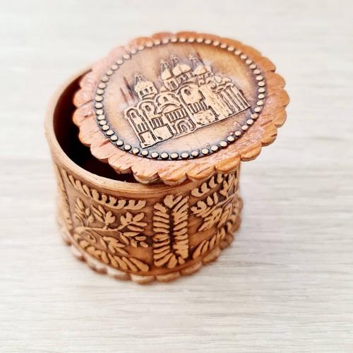 Ювелирная упаковка Для кольца храм из бересты 92541