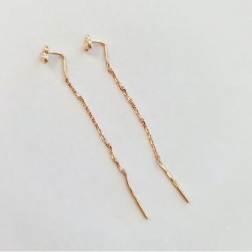 Золото серьги протяжки фианит 51-123-00370-1 Россия Cоколов
