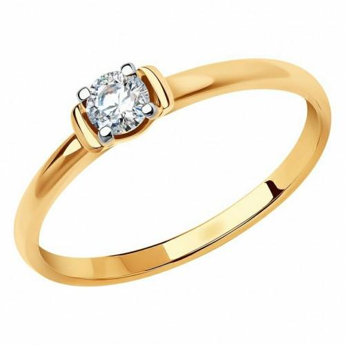 Золото кольцо фианит 018632 Россия Cоколов 16(р)
