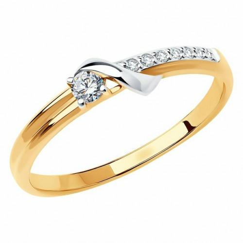 Золото кольцо фианит 018552 Россия Cоколов 16,5(р)