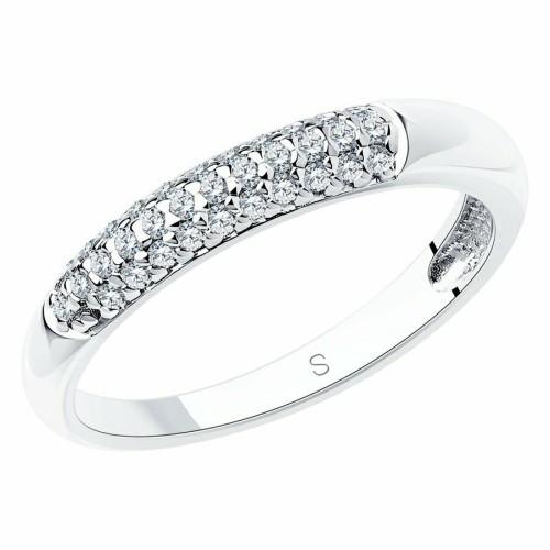 Серебро кольцо фианит родий 94012664 Россия Cоколов 16,5(р)