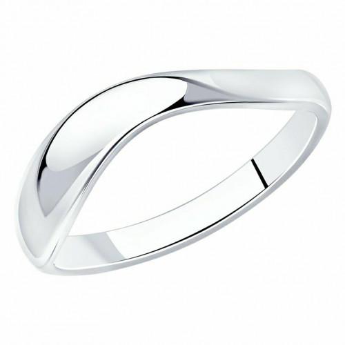Серебро кольцо на фалангу без вставок родий 94011890 Россия Cоколов 13,5(р)