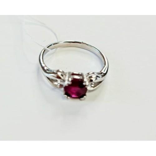 Серебро кольцо рубин родий 00820 Россия Теоса 17,5(р)