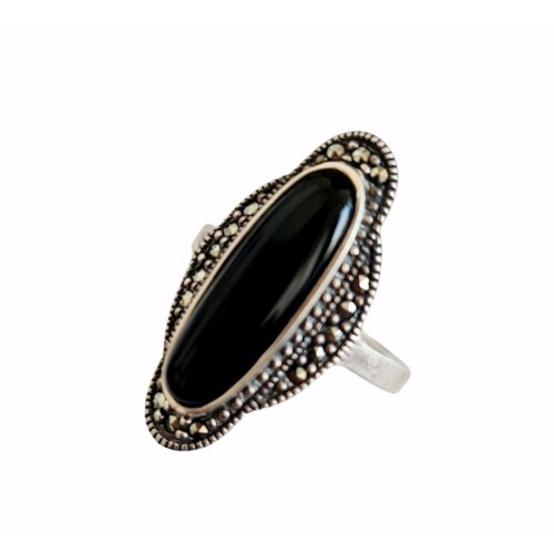 Серебро кольцо оникс оксид 012-on Россия Теоса 19.5(р)