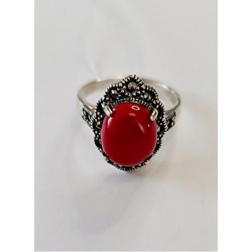 Серебро кольцо коралл оксид 459-cor Россия Теоса 18,5(р)