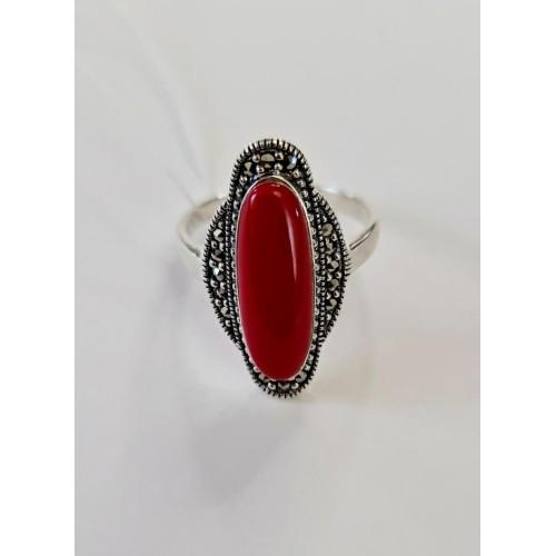 Серебро кольцо коралл оксид 012-cor Россия Теоса 20(р)