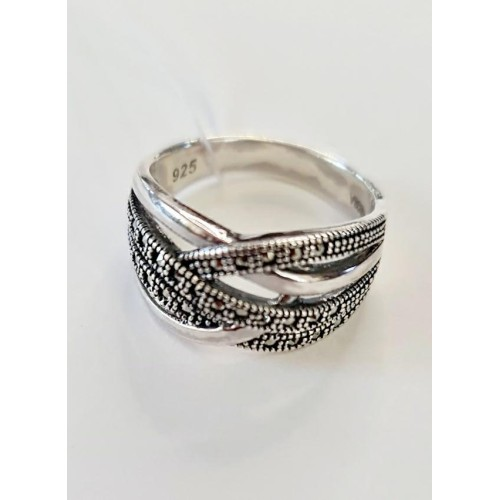 Серебро кольцо марказит оксид 1581-mac Россия Теоса 19(р)